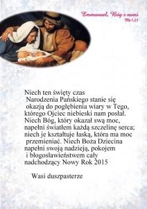 Boże Narodzenie 2014 - parafia